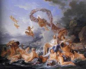 the birth of venus by francois boucher
