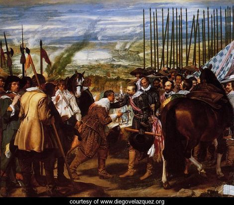 the surrender of Breda - Velazquez