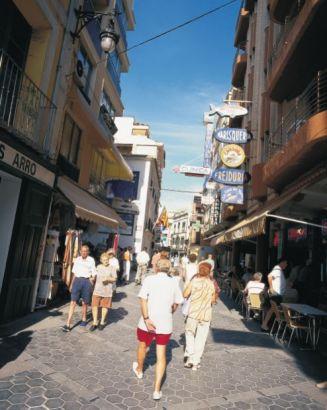 benidorm old town from Poniente playa
