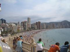 benidorm levante playa from the old town