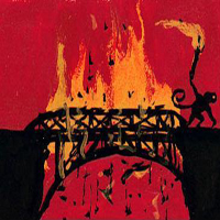 burning bridge