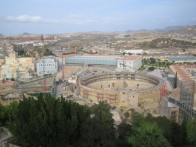 cartagena panorama with bullring
