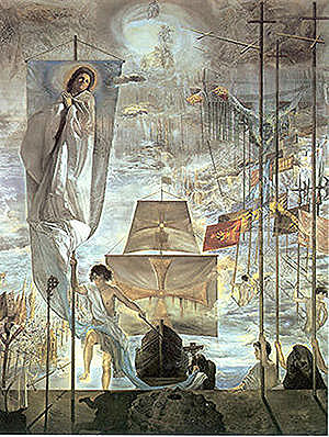 Discovery of america by christopher columbus - salvador dali