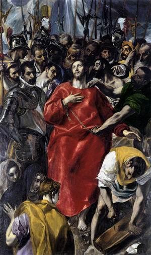 el greco - the disrobing of christ
