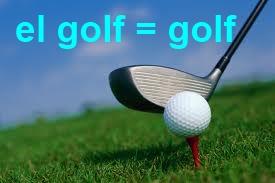 el golf = golf