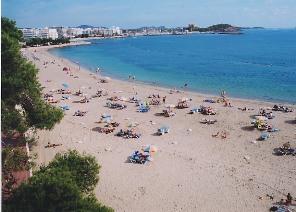 Ibiza Santa Eularia des Riu playa