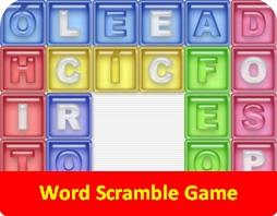 Spanish Word Scramble Game