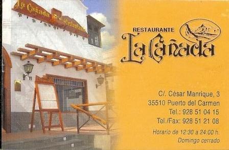 la canada restaurante in puerto del carmen lanzarote