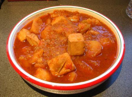 Marmitako basque style tuna and potato stew