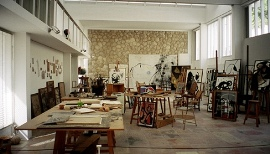 miro studio in his home in majorca