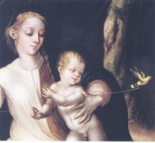 Virgen del pajarito - Luis de Morales