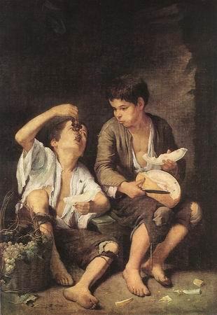 boys eating fruit - murillo