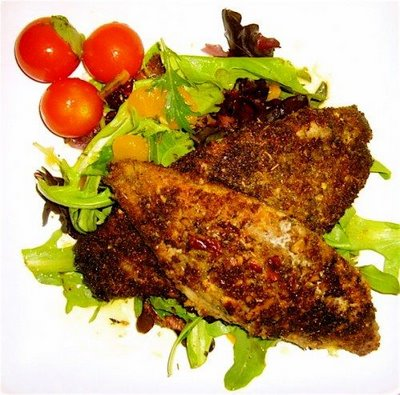 pecan-crusted duck fillets