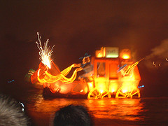 Light show at Port Aventura