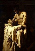 Christ embracing st bernard by ribalta