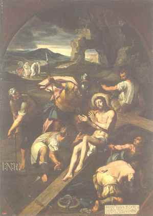 nailing Christ to the cross francisco ribalta