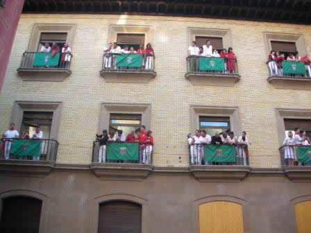 San Fermin - balcon