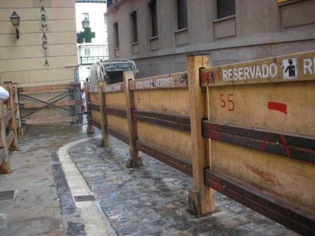 San Fermin - barrier