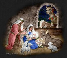 silent night - nativity scene