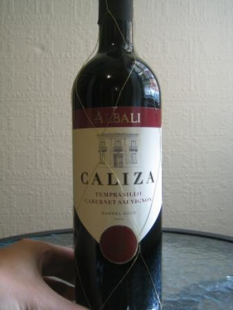 Albali caliza wine bottle