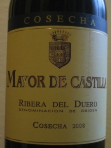 mayor de castilla Ribera el duero wine
