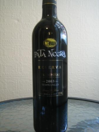 pata negra valdepenas wine