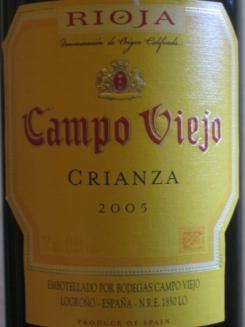 rioja wine - campo viejo crianza