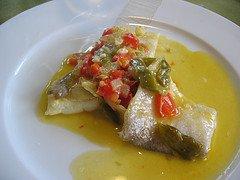 Bacalao (cod) con piperrada