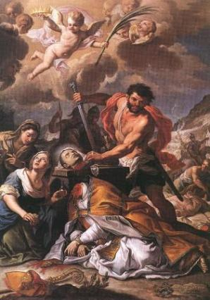 Januarius rising from the furnace by Ribera
