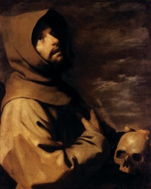 st francis praying - zurbaran