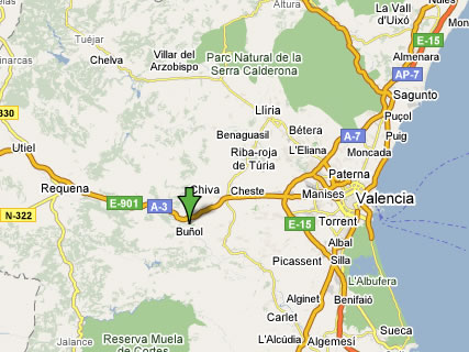 Buñol map